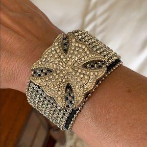 Jewelry - Leather & Sparkle Wrap Bracelet